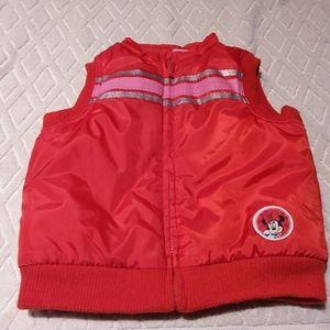🌻 2/$30- Disney baby puffy Minnie vest-EUC